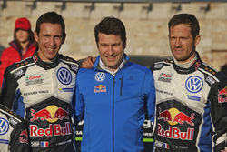 Podium: 1. Sébastien Ogier, Julien Ingrassia, Volkswagen Motorsport mit Francois-Xavier Demaison