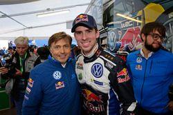 Anders Jäger, Volkswagen Motorsport with Jost Capito, Director Volkswagen Motorsport