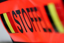 Pit board signs for Stoffel Vandoorne, McLaren