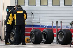 Pirelli technicians