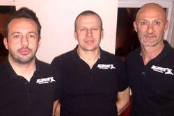 Renaud Derlot, Olivier Panis et Fabien Barthez