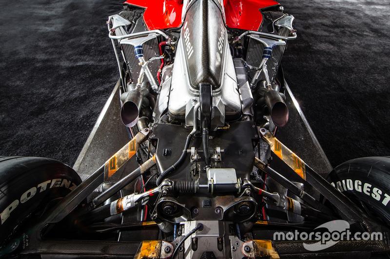 V10Ferrari Tipo 050 motor van de Ferrari F2001
