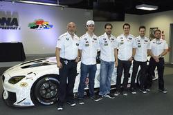 Bobby Rahal, John Edwards, Lucas Luhr, Graham Rahal, Kuno Wittmer with the 100th anniversary BMW M6