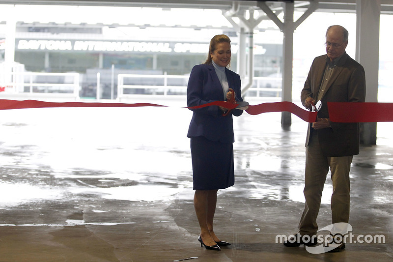 Lesa France Kennedy, CEO, International Speedway Corporation and Jim France, Chairman of the Board,