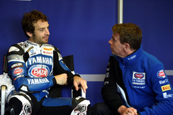 Sylvain Guintoli mit Paul Denning, Teamchef von Pata Yamaha
