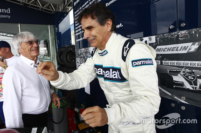 Bernie Ecclestone, CEO of F1, with Nelson Piquet