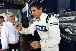 Bernie Ecclestone, CEO of F1, with Nelson Piquet