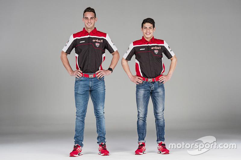 Michael Ruben Rinaldi y Leandro Mercado, Aruba.it Ducati SuperStock 1000 Junior Team