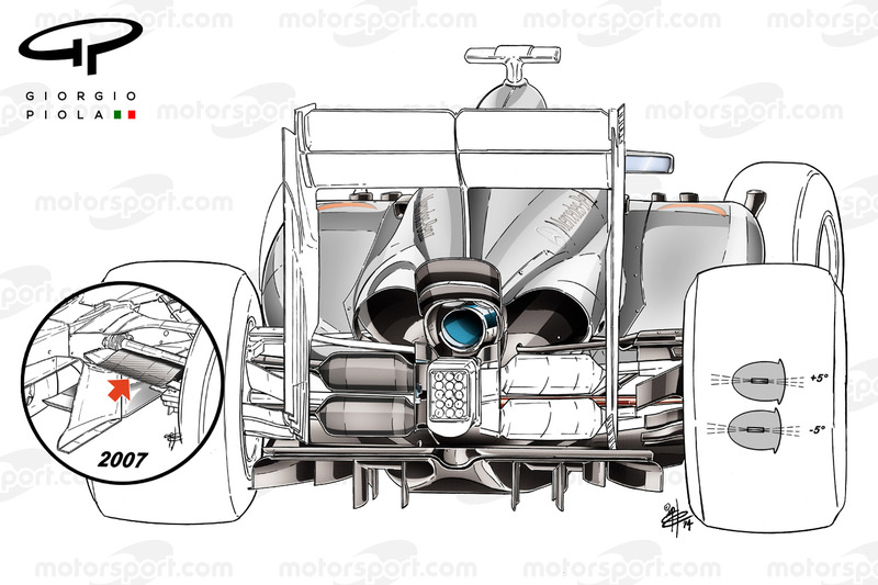 """La suspension arrière """"papillon"""" (butterfly) de la McLaren MP4-29 de 2014"""