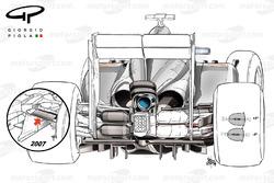 McLaren MP4-29 von 2014, Detail der Hinterradaufhängung