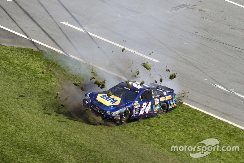 Choque: Chase Elliott, Hendrick Motorsports Chevrolet