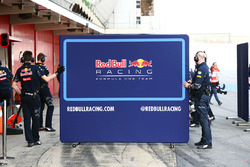 Red Bull Racing screen in the pits