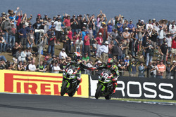 Jonathan Rea, Kawasaki Racing Team und Tom Sykes, Kawasaki Racing Team