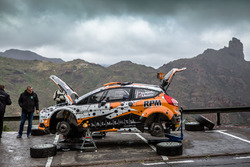 Alexei Lukyanyuk durante i test per il Rally delle Isole Canarie
