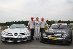 Heikki Kovalainen, McLaren Mercedes, Susie Stoddart, Persson Motorsport AMG Mercedes and Lewis Hamil
