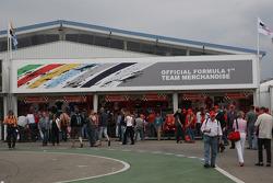 F1 merchandise area