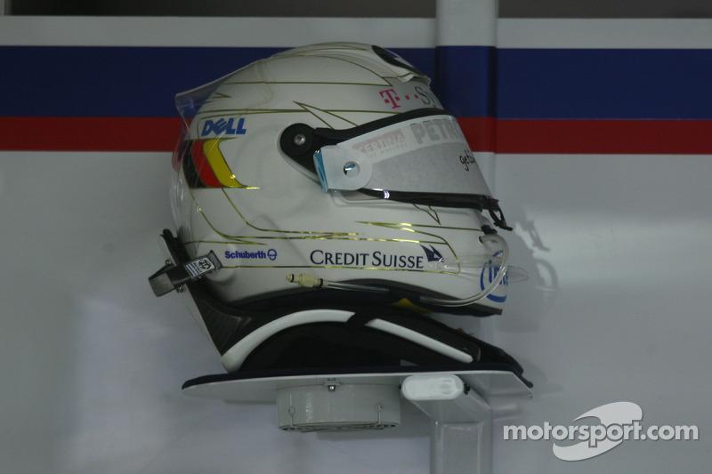 Spare, kask, Nick Heidfeld, BMW Sauber F1 Team