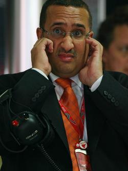 Muhammed Al Khalifa Chairman of Bahrain circuit and McLaren shareholder