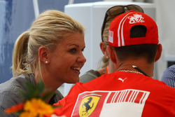 Corina Schumacher, Corinna, Wife of Michael Schumacher ans Michael Schumacher, Test Driver, Scuderia Ferrari