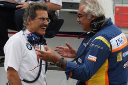Dr. Mario Theissen, BMW Sauber F1 Team, BMW Motorsport Director and Flavio Briatore, Renault F1 Team, Team Chief, Managing Director