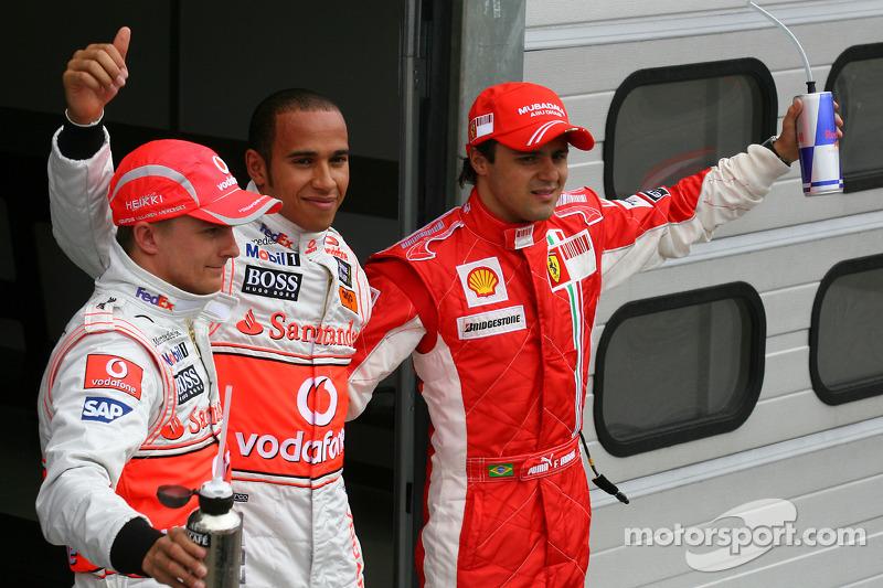 Pole: Kazanan Lewis Hamilton ve Felipe Massa ve Heikki Kovalainen