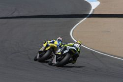 Colin Edwards en Valentino Rossi