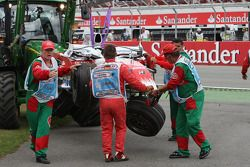 Timo Glock, Toyota F1 Team, TF108, kazaed