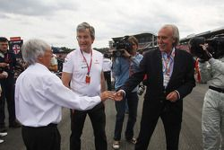 Bernie Ecclestone, President and CEO of Formula One Management with Antonio Escamez