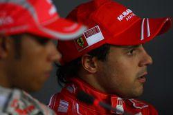 Press conference: race winner Lewis Hamilton, third place Felipe Massa