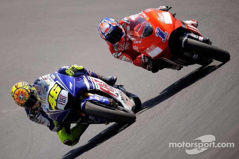 Valentino Rossi en Casey Stoner