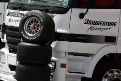 Slick Bridgestone tyres