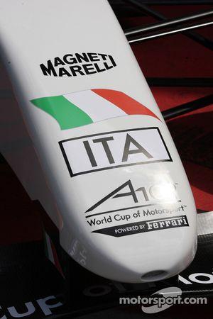 Detail of the A1GP Powered by Ferrari car 2008-09