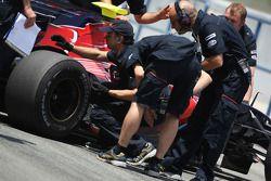Sebastian Vettel, Scuderia Toro Rosso on slick tyres