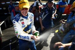 Mark Winterbottom celebrates the victory