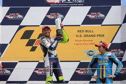 Podium: race winner Valentino Rossi