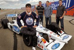 Graham Rahal sports the copper and blue of the hometown Edmonton Oilers, special Rahal jersey #06, a