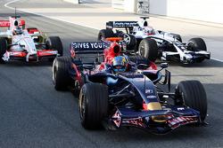 Sebastien Bourdais, Scuderia Toro Rosso stops pitlane