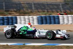 Rubens Barrichello, Honda Racing F1 Team, RA108, ve yeni köpek balığı kanatlı motor kapağı