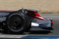 Pedro de la Rosa, Test Pilotu, McLaren Mercedes, MP4-23, ve yeni nose wings / antler wings