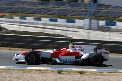 Kamui Kobayashi, Test Pilotu, Toyota F1 Team, try out yeni köpek balığı kanatlı motor kapağı