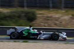 Jenson Button, Honda Racing F1 Team, RA108, try out yeni köpek balığı kanatlı motor kapağı