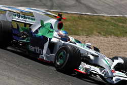 Jenson Button, Honda Racing F1 Team, RA108, try out the new shark fin engine cover
