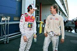 Oliver Jarvis, Audi Sport Team Phoenix, Audi A4 DTM and Mattias Ekström, Audi Sport Team Abt Sportsline