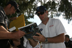 Jimmie Johnson signs autographs
