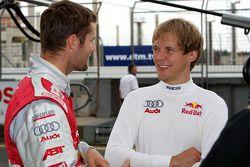 Martin Tomczyk, Audi Sport Team Abt Sportsline, Audi A4 DTM chatting with Mattias Ekström, Audi Sport Team Abt Sportsline, Audi A4 DTM