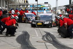 Timo Scheider, Audi Sport Team Abt, Audi A4 DTM coming in for a practice pitstop