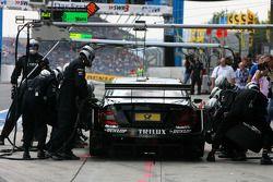 Practice pitstop of Ralf Schumacher, Mücke Motorsport AMG Mercedes, AMG Mercedes C-Klasse