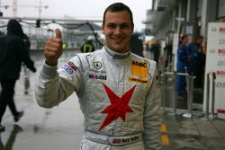 Fourth place for Gary Paffett, Persson Motorsport AMG Mercedes, in the qualifying, aborted by heavy