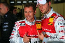 Tom Kristensen, Audi Sport Team Abt and Martin Tomczyk, Audi Sport Team Abt Sportsline in qualifying