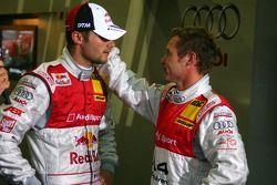 Martin Tomczyk, Audi Sport Team Abt Sportsline and Tom Kristensen, Audi Sport Team Abt, in qualifyin
